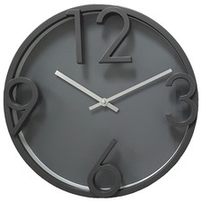 Dark Grey Wall Clock