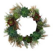 Artificial Succulent Wreath
