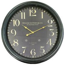 60cm Black Penumbra Iron Wall Clock
