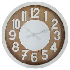 60cm Lustre Wooden Wall Clock