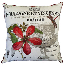 French Country Cotton Canvas Cushion