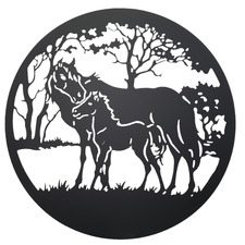Horse & Foal Iron Wall Decor