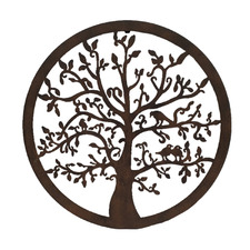 Dark Brown Tree Of Life Iron Wall Decor