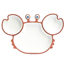 Kids' Silicone Suction Crab Plate