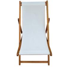 Natural Acacia Wood Beach Chair