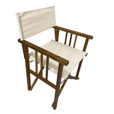 Natural Acacia Wood Outdoor Director's Chair
