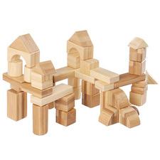 Udeas 50 Piece Bamboo Building Blocks Set