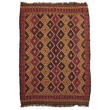 Vintage Style Hester Wool-Blend Maimana Kilim Rug