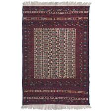 Hastin Hand-Woven Wool-Blend Kilim Rug