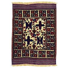 Vintage Style Gul Barjasta Hand-Knotted Wool Rug