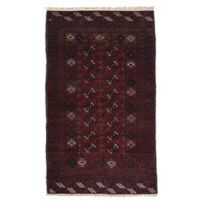 Bukhara Hand-Knotted Wool Rug