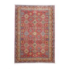 Dastgeer Kazak Hand-Knotted Wool Chobi Rug