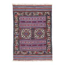 Vintage Tabesh Gul Barjusta Hand-Knotted Wool Rug