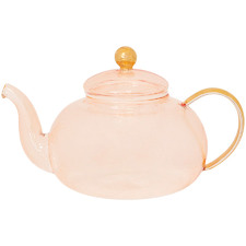 Rose 1L Gold & Glass Teapot with Infuser