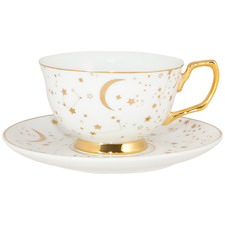 2 Piece Ivory It's Written In The Stars 220ml Teacup & Saucer Set