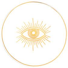 Protective Eye 11cm Gold & New Bone China Tea Dish