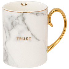 Trust 360ml Gold & New Bone China Mug
