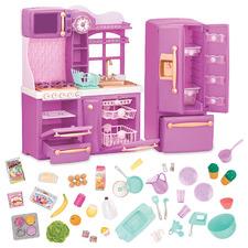 Kids' Purple Gourmet Kitchen Doll Set