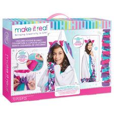 Kids' Unicorn Hoodie Blanket Kit