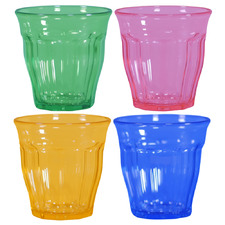 4 Piece Camille Stackable 290ml Polycarbonate Tumbler Set