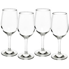 Clara 315ml Polycarbonate White Wine Glasses (Set of 4)