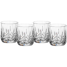 Robbin Cut Crystal 255ml Polycarbonate Rocks Glasses (Set of 4)