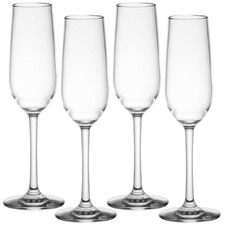 Kasey 170ml Polycarbonate Champagne Flutes (Set of 4)