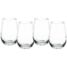 Mosley 350ml Polycarbonate Stemless Wine Glasses (Set of 4)