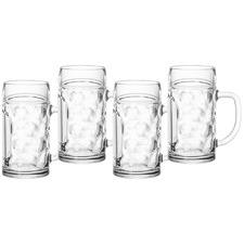 Dimple 570ml Polycarbonate Beer Mugs (Set of 4)