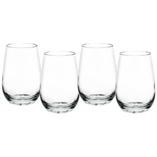 Mosley 480ml Polycarbonate Stemless Wine Glasses (Set of 4)