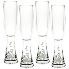 Terrell 180ml Polycarbonate Champagne Flutes (Set of 4)