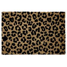 Leopard Print Coir Doormat
