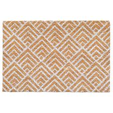 White Geo Coir Doormat
