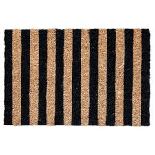 Black & Natural Hampton Coir Doormat