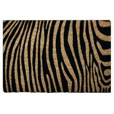 Zebra Print Coir Doormat