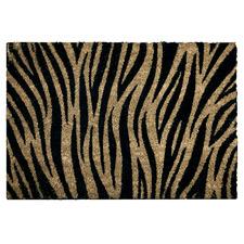 Tiger Print Coir Doormat