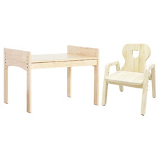 Bunnytickles Kids' Bear 1 Drawer Table with Chair Set