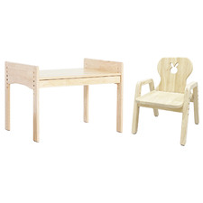 Bunnytickles Kids' Rabbit 1 Drawer Table with Chair Set
