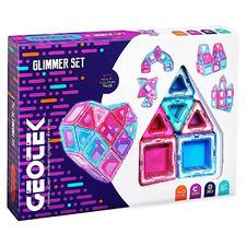 Kids' 40 Piece 3D Glimmer Magnetic Construction Set