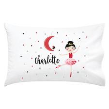 Kids' Christmas Dancer Personalised Cotton Pillowcase