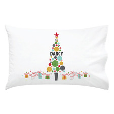 Kids' Christmas Bauble Personalised Cotton Pillowcase
