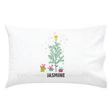 Kids' Eucalyptus Christmas Tree Personalised Cotton Pillowcase