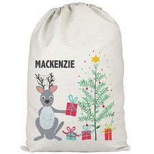 Kids' Christmas Kangaroo Personalised Canvas Santa Sack