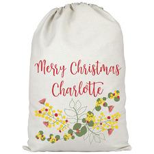 Kids' Australian Bush Christmas Personalised Canvas Santa Sack