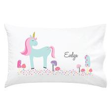 Kids' Unicorn Personalised Cotton Pillowcase