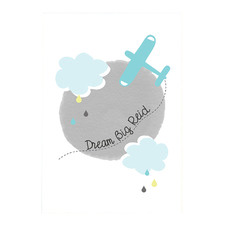 Kids' Dream Big Personalised Unframed Paper Print