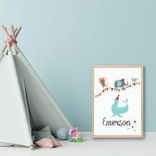 Kids' Circus Personalised Unframed Paper Print