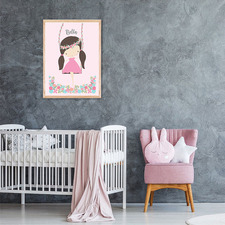 Kids' Girl On A Swing Personalised Unframed Paper Print