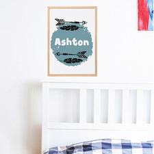 Kids' Arrow Personalised Unframed Paper Print