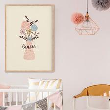 Floral Vase Personalised Unframed Paper Print Wall Art